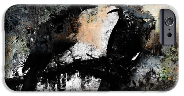 Crows Mixed Media iPhone Cases - Having A Heated Discussion iPhone Case by Arline Wagner