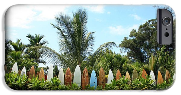 Best Sellers -  - Board iPhone Cases - Hawaii Surfboard Fence iPhone Case by Michael Ledray