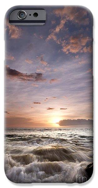 Ocean Sunset iPhone Cases - Hawaiian Sunset South Maui iPhone Case by Dustin K Ryan