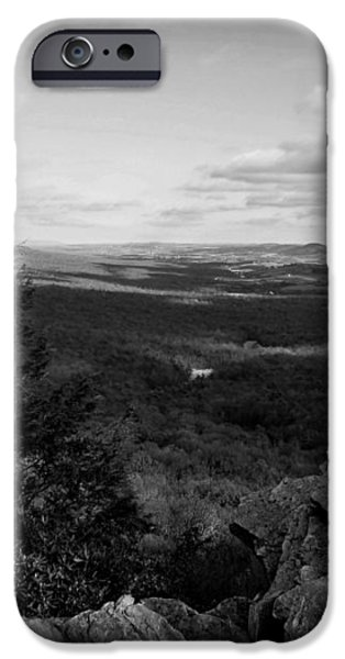 Hawk Mountain Sanctuary BW iPhone Case by David Dehner