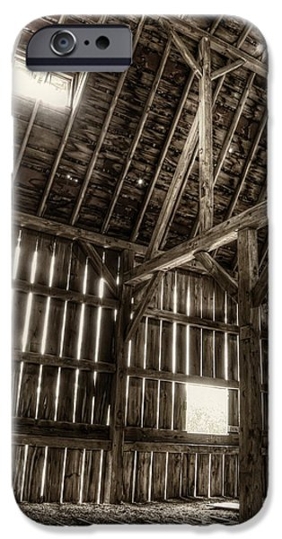 Old Barns iPhone Cases - Hay Loft iPhone Case by Scott Norris