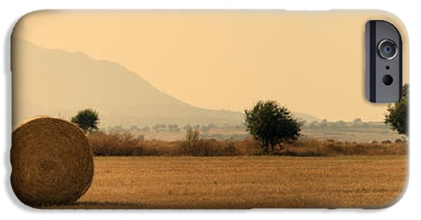Autumn iPhone Cases - Hay Rolls  iPhone Case by Stylianos Kleanthous