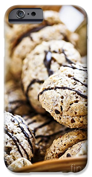 Cookie iPhone Cases - Hazelnut Cookies iPhone Case by Elena Elisseeva