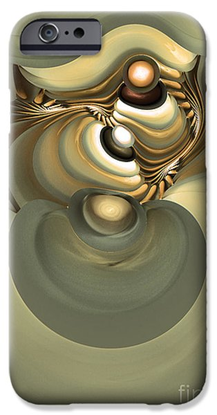 Colorful Abstract Algorithmic Contemporary iPhone Cases - He is like his father iPhone Case by Sipo Liimatainen
