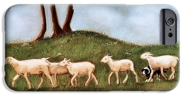 Farm Landscape Pastels iPhone Cases - Headed home iPhone Case by Jan Amiss