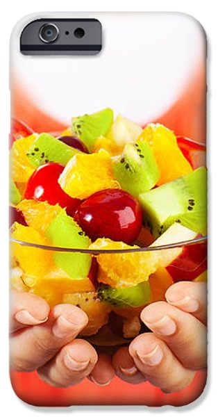 Healthy fruit salad iPhone Case by Anna Omelchenko