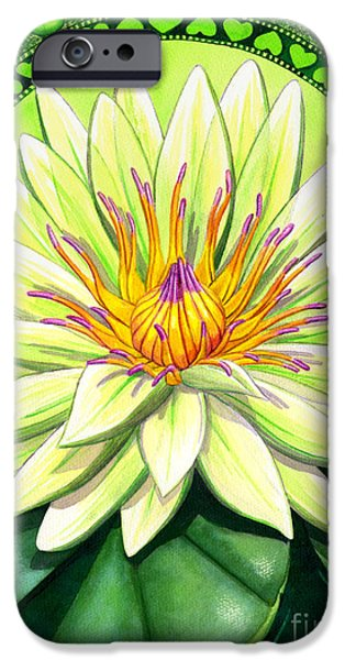Chakra Paintings iPhone Cases - Heart Chakra iPhone Case by Catherine G McElroy