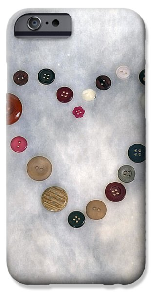 Sew iPhone Cases - Heart Of Buttons iPhone Case by Joana Kruse