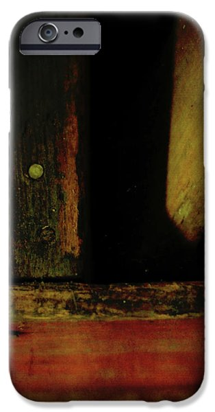 Wooden Crate iPhone Cases - Heart of Darkness and Light iPhone Case by Rebecca Sherman