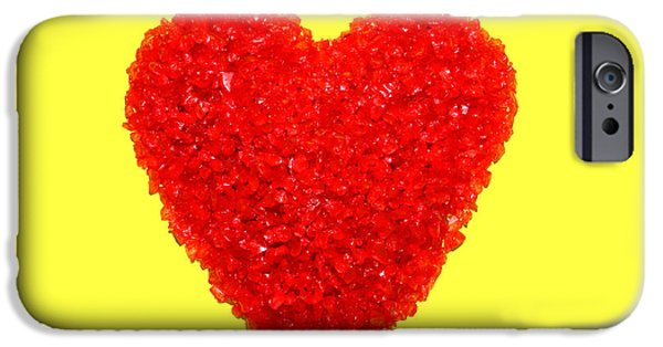 Harsh iPhone Cases - Heart of Glass iPhone Case by Olivier Le Queinec