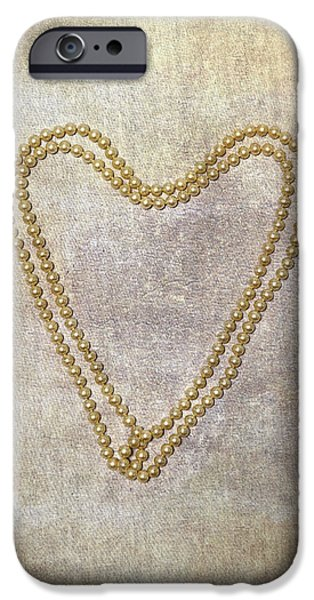 Pearls iPhone Cases - Heart Of Pearls iPhone Case by Joana Kruse
