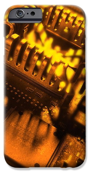 Electrical Component iPhone Cases - Heat Sink iPhone Case by Mark Sykes