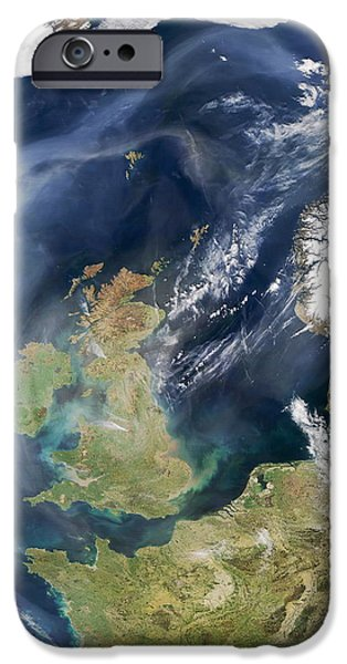 North Sea iPhone Cases - Heath And Moorland Fires, Uk iPhone Case by Nasa
