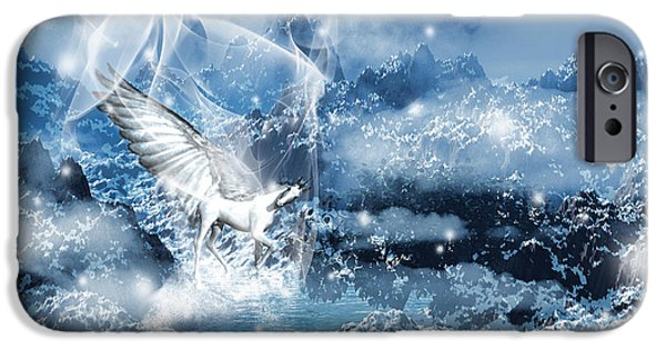Lightning Digital Art iPhone Cases - Heavenly Interlude iPhone Case by Lourry Legarde