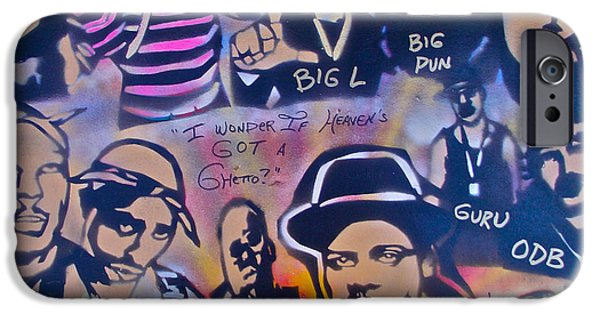 Conscious Paintings iPhone Cases - Heavens Ghetto iPhone Case by Tony B Conscious