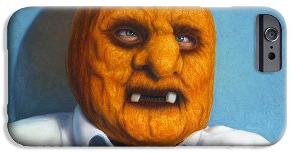 Halloween iPhone Cases - Heavy Vegetable-head iPhone Case by James W Johnson