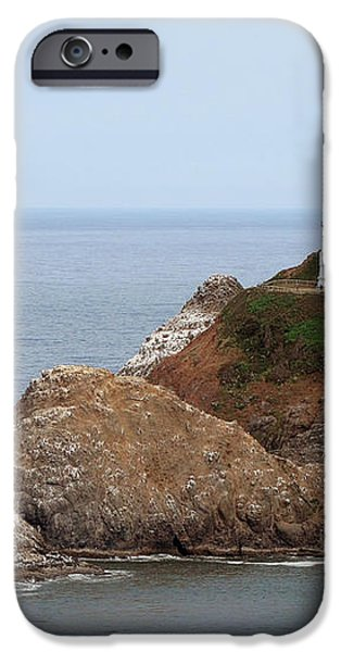 Heceta Head Lighthouse - Oregon's Scenic Pacific Coast Viewpoint iPhone Case by Christine Till