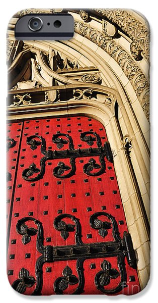 Heinz iPhone Cases - Heinz Chapel Doors iPhone Case by Thomas R Fletcher