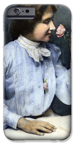 19th Century iPhone Cases - Helen Adams Keller iPhone Case by Granger