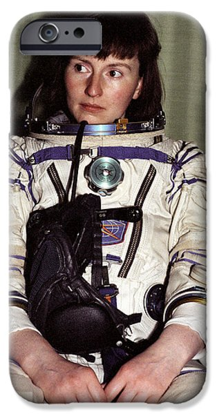 Briton iPhone Cases - Helen Sharman, British Astronaut iPhone Case by Ria Novosti