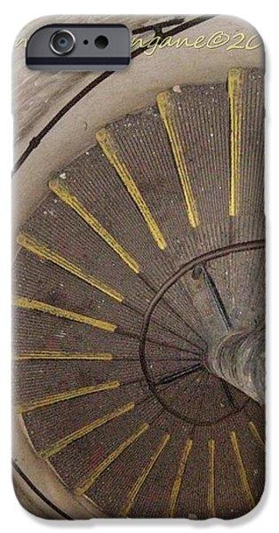 Helical Stairway iPhone Case by Sonali Gangane