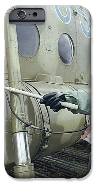 Helicopter Decontamination During Chernobyl Disast iPhone Case by Ria Novosti