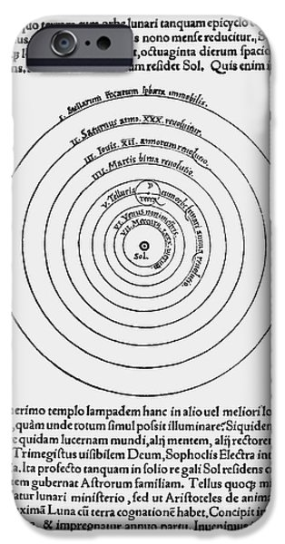 Heliocentric Universe, Copernicus, 1543 iPhone Case by Science Source