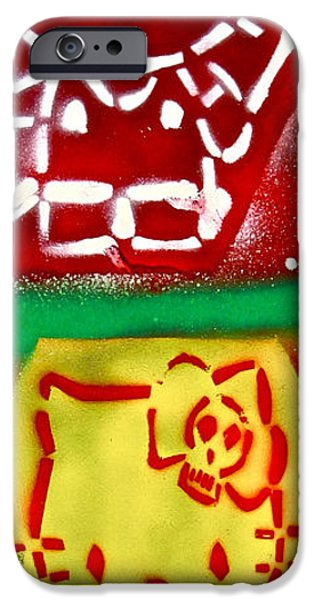 Conscious Paintings iPhone Cases - Hello Punk Kitty iPhone Case by Tony B Conscious