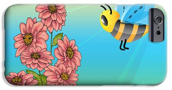 Cartoon Art iPhone Cases - Hellooooo Girls iPhone Case by Cheryl Young