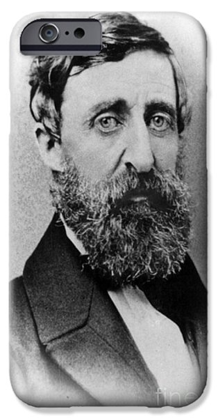 Thoreau iPhone Cases - Henry David Thoreau, American Author iPhone Case by Photo Researchers