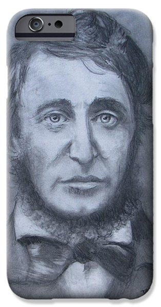Henry David Thoreau iPhone Case by Jack Skinner