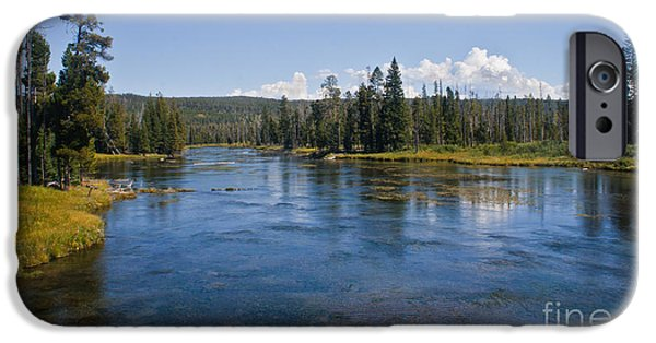 River Flooding iPhone Cases - Henry Fork Of The Snake River iPhone Case by Robert Bales