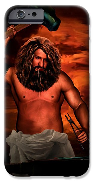 Hera iPhone Cases - Hephaestus iPhone Case by Lourry Legarde