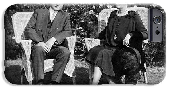 First Lady iPhone Cases - Herbert & Lou Hoover, 1929 iPhone Case by Granger