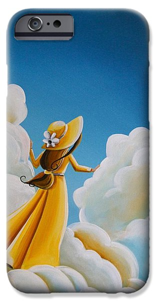 Figures Paintings iPhone Cases - Here Comes The Sun iPhone Case by Cindy Thornton