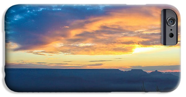 Grand Canyon iPhone Cases - Here Comes The Sun iPhone Case by Heidi Smith