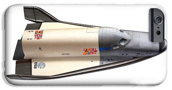 Spaceplane iPhone Cases - Hermes Space Shuttle, Artwork iPhone Case by David Ducros