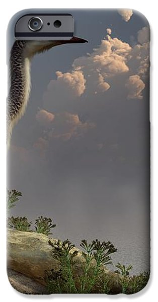 Hesperornis by the Sea iPhone Case by Daniel Eskridge