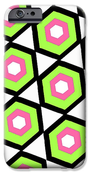 Louisa iPhone Cases - Hexagon iPhone Case by Louisa Knight