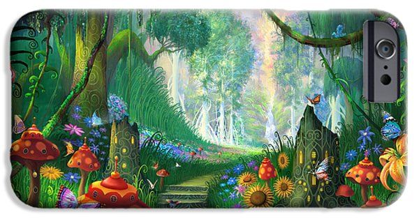 Forest Mixed Media iPhone Cases - Hidden Treasure iPhone Case by Philip Straub