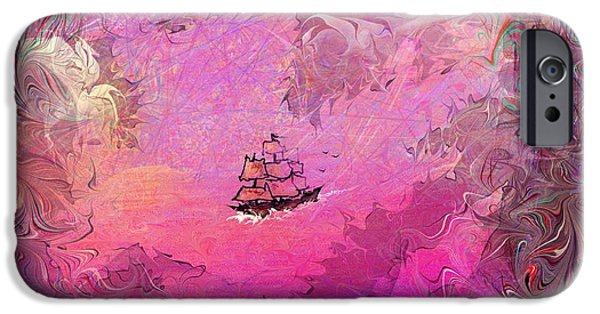 Pirate Ships iPhone Cases - Hidden Treasure iPhone Case by Rachel Christine Nowicki