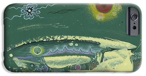 Moonscape Drawings iPhone Cases - Hidden Verdania iPhone Case by Ralf Schulze
