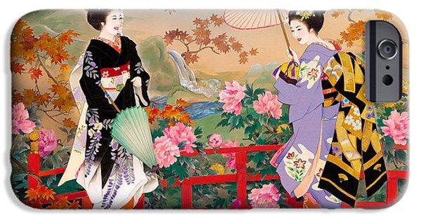 Culture iPhone Cases - Higasa iPhone Case by Haruyo Morita