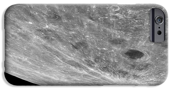 Moonscape iPhone Cases - High Altitude Oblique View Of The Lunar iPhone Case by Stocktrek Images