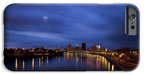 Man Made Space iPhone Cases - High Angle View Of The City iPhone Case by Christian Scully