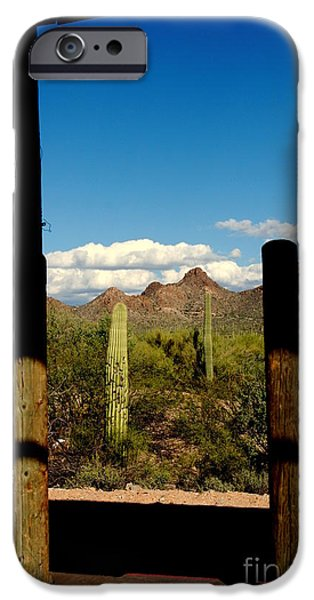 High Chaparral Old Tuscon Arizona  iPhone Case by Susanne Van Hulst