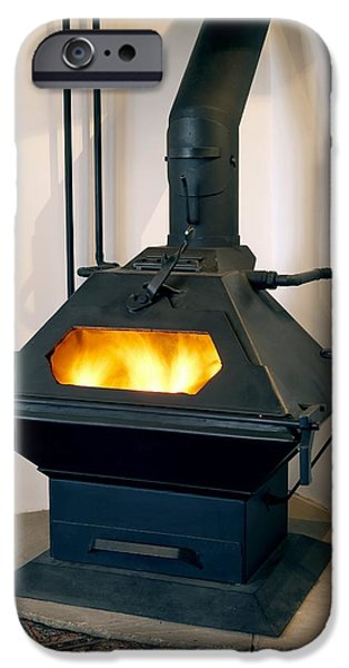 High Efficiency Multi-fuel Stove iPhone Case by Mark Sykes