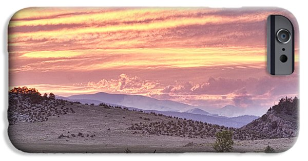 High Park Fire iPhone Cases - High Park Fire Larimer County Colorado at Sunset iPhone Case by James BO  Insogna