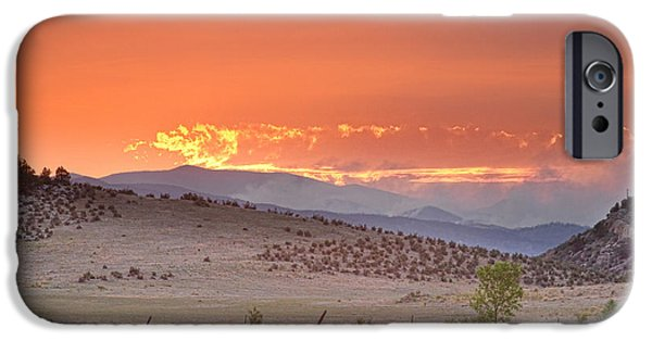 Fort Collins Photographs iPhone Cases - High Park Wildfire at Sunset iPhone Case by James BO  Insogna