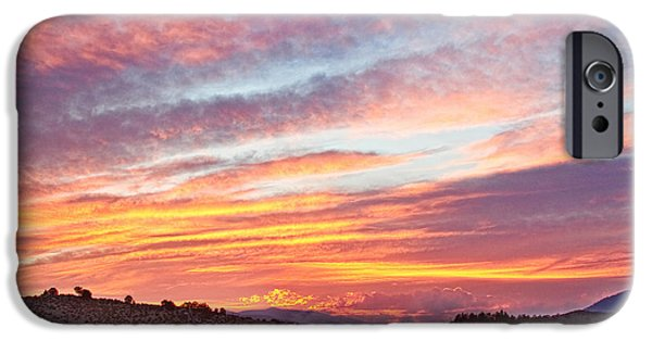 Fort Collins Photographs iPhone Cases - High Park Wildfire Sunset Sky iPhone Case by James BO  Insogna